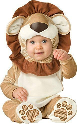 Deluxe Baby Boys Girls Lovable Lion Jungle Book Day Halloween in Character Fancy Dress Costume Outfit (0-6 Months) Brown ()