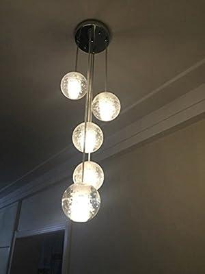 Getop Modern Crystal Chandelier Lights Fixtures Magic Crystal Ball lustres loft stairwell Crystal Light LED Meteor Shower Crystal Lamp