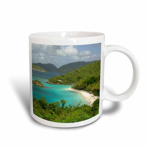 3D Rose 70005_5 Usvi, St John, Trunk Bay, Virgin Islands NPCA37 CMI0147 Cindy Miller Hopkins Two Tone Ceramic Mug, Red -