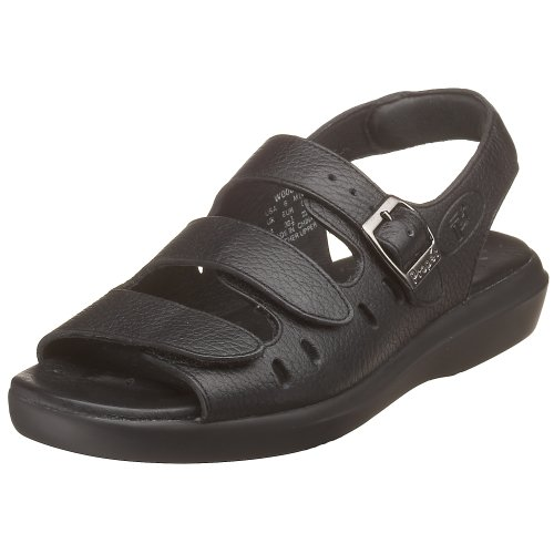 Propet Women's W0001 Breeze Walker Sandal Black Grain