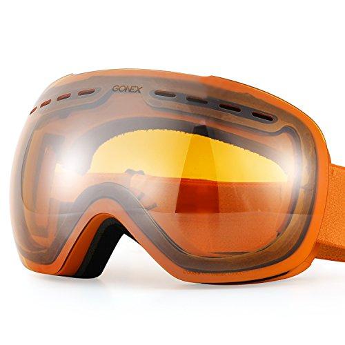 Gonex Oversized Ski Snow Goggles Anti-fog UV Protection with Frameless Double Spherical...
