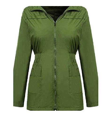 Donne Impermeabile Verde Vento Leggera A Vento Xinheo Incappucciati Militare Giacca A Antipioggia Giacca Giacca 7qwxXdnC
