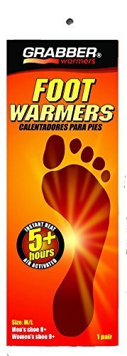 Grabber Foot Warmers - 5 Plus Hour - Pack of 10 Pair - Medium/Large