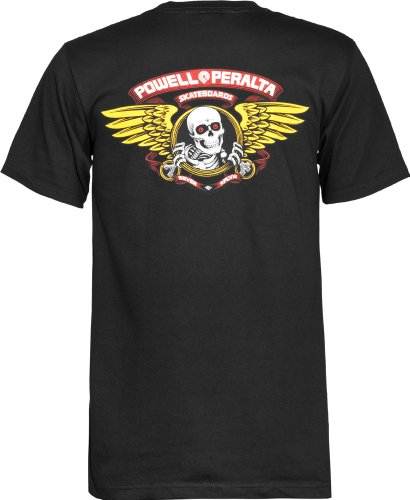 Powell-Peralta Winged Ripper T-Shirt, Black, Large (Independent Animal T-shirts)