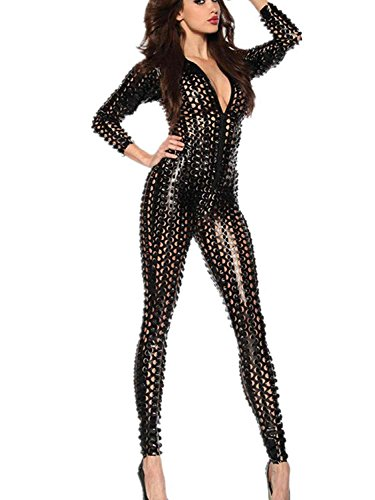 Leather Jumpsuit Womens - 4
