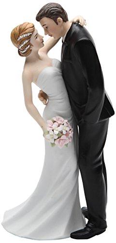 Cosmos Gifts 33266 Ceramic Wedding Couple Figurine, 7-Inch (Wedding Ceramic)