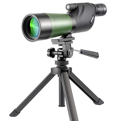 Gosky 20-60X60 HD Waterproof Spotting Scope- Porro Prism Spotting Scope for Bird Watching Target Shooting Archery Range Outdoor Activities