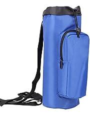 QEES YQPD02 - Mochila impermeable para tanque de oxígeno, color azul 1680D Oxford, con hombros ajustables y bolsillos laterales para cilindros de oxígeno y tanques D
