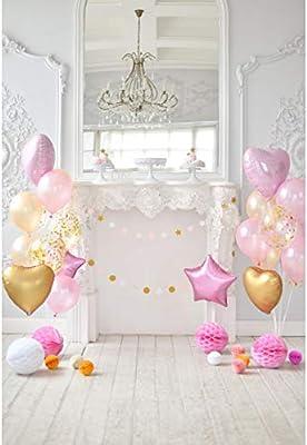 Cassisy 2x3m Vinilo Cumpleaños Telon de Fondo Niña Decoración de 1er cumpleaños Los Globos Araña de la Vendimia Fondos para Fotografia Party Infantil ...