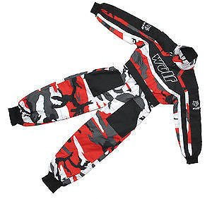KIDS WULFSPORT RACE SUIT OVERALLS MOTOCROSS GO-KARTING PLAY YOUTH CHILD OUTDOOR