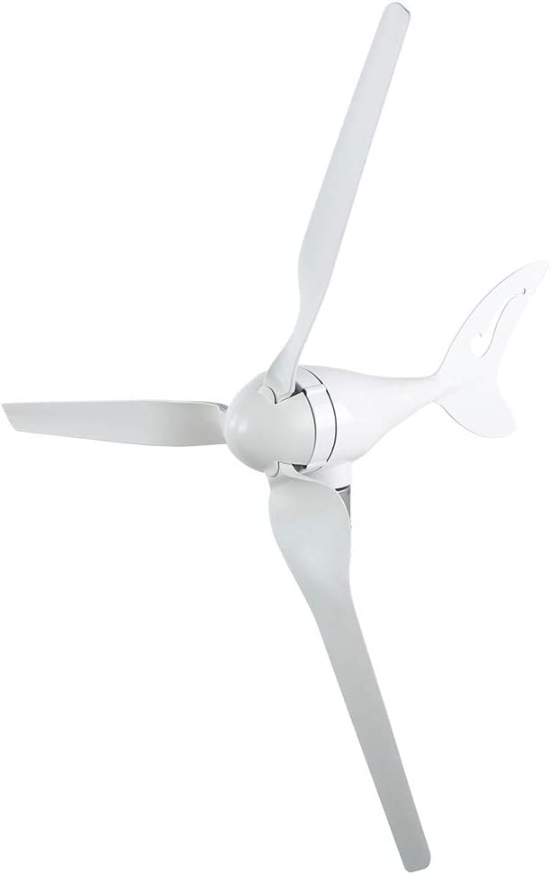 Vikye Generador de turbina eólica, 200 W DC12V con 3 Cuchillas, 2 m/s, Velocidad del Viento de Inicio, fácil de Instalar y Mantener, Molino de Viento de aleación de Aluminio para el(DC12V)