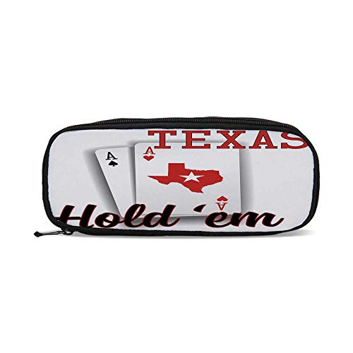 Poker Tournament Decorations,Texas Holdem Theme Pair of Aces with Map Winning Hand Decorative,9.4