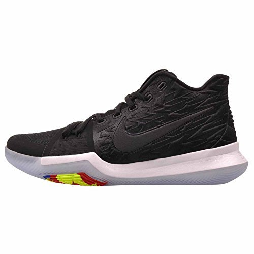 sports shoes 2c537 40ef9 Galleon - NIKE Mens Kyrie 3 Basketball Shoes, (Black White, 11.5)