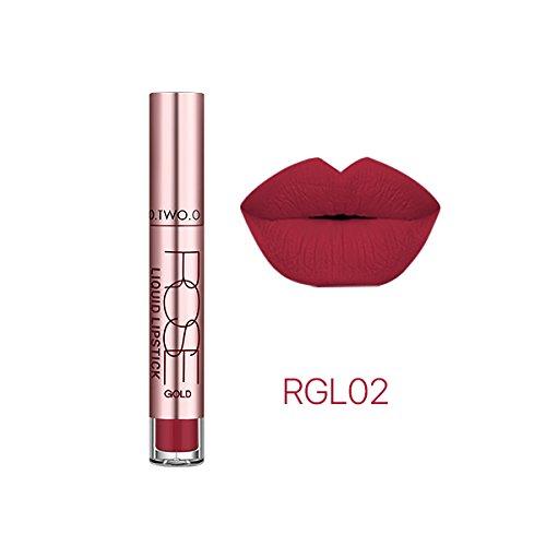 Rouge à lèvre mat waterproof semi permanent longue durée RGL02
