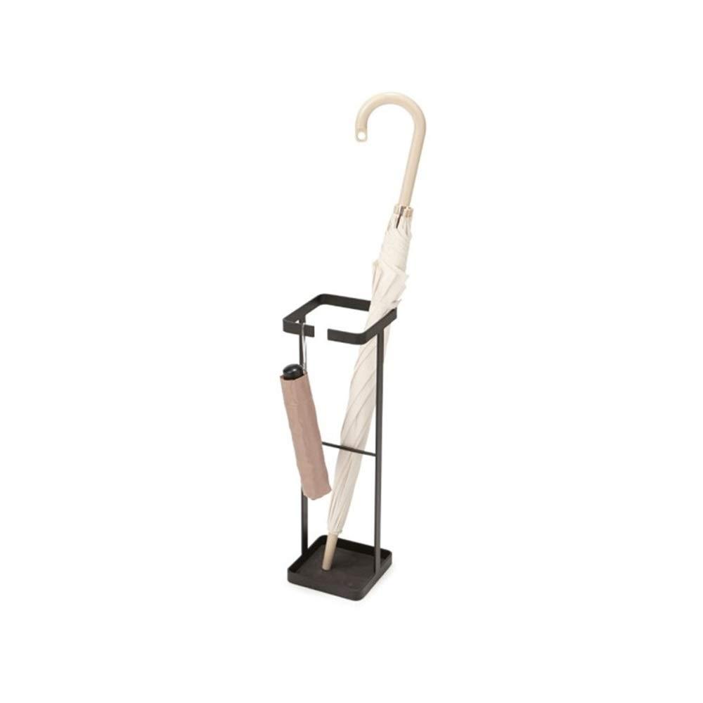 Black 15x15x49cm MYQ Umbrella Stand, Metal Household Umbrella Stand, Floor Stand, Umbrella Stand, Storage Umbrella, Wrought Iron Umbrella Stand (15x15x49cm) Hallway Umbrella Stand (color   Black, Size   15x15x49cm)