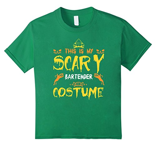 Kids This Is My Scary Bartender Costume Halloween T-Shirt 4 Kelly (Bartender Costume)