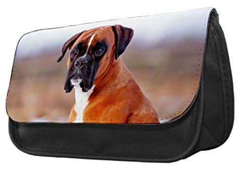 Boxer Hund Bleistift Fall/Make-up Tasche 085