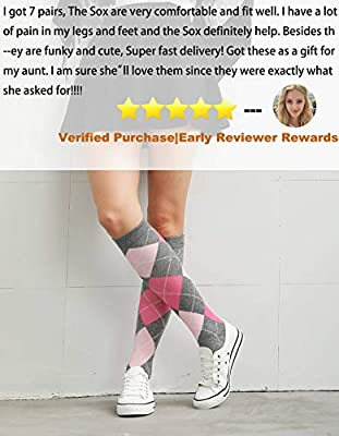 Cored Health Cotton Compression Socks Women Men 15-20 mmHg Dress,Running,Travel