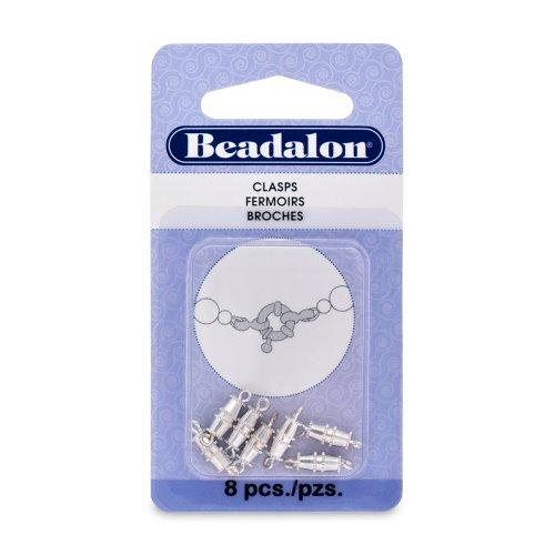Beadalon Barrel Silver Plated 8 Piece