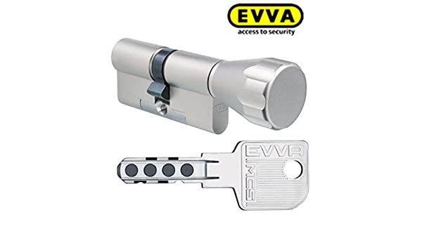 Cilindro Evva MCS magnético Tecnología Cerradura (con 4 llaves, longitud (a/b) 31/k36 mm (C=67 mm), K=Pomo (lado, BSZ Modular, construcción symo y ...