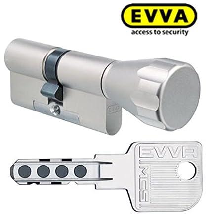 Cilindro Evva MCS magnético Tecnología Cerradura (con 4 llaves, longitud (a/b) 31/k36 mm (C ...