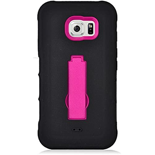 Samsung S7 Active Case, IECUMIE ARMOR Skin Protective Cover Case with Stand for Samsung Galaxy S7 Active [Fits ONLY S7 ACTIVE] - Hot Pink (Package Sales