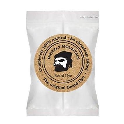 Organic & Natural Black Beard Dye With Organic Base (black) Grizzly Mountain Noir