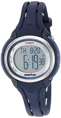 5009J Ironman Sleek 50 Dark Blue Silicone Strap Watch ()