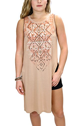 (Miss Me MDT1578T Burnt Orange Hi Lo Slit Tunic (small))