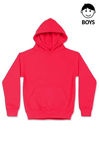 Boys Hipster Hip Hop Basic Unisex Pullover Hoodie Hot Pink Sweatshirts Large by JC DISTRO