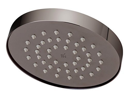 Symmons 532SH-BLK Museo 1-Spray 5.6 in. Fixed Showerhead in Polished Graphite (2.5 GPM) ()