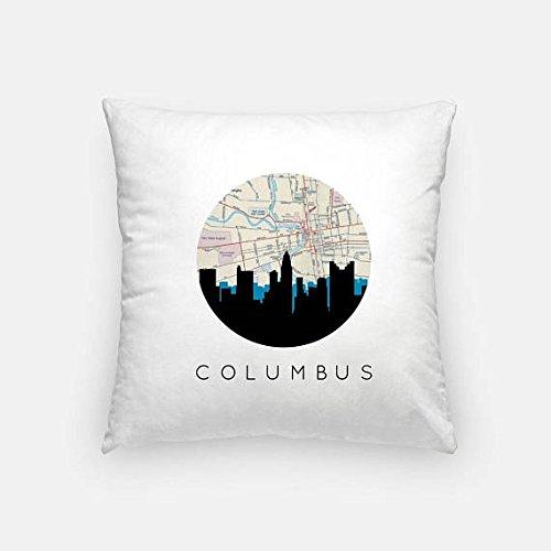 Costume Quest Map (Columbus pillow | Columbus Map Pillow | Columbus Illinois pillow | Columbus home decor | throw pillow | city skyline pillow)