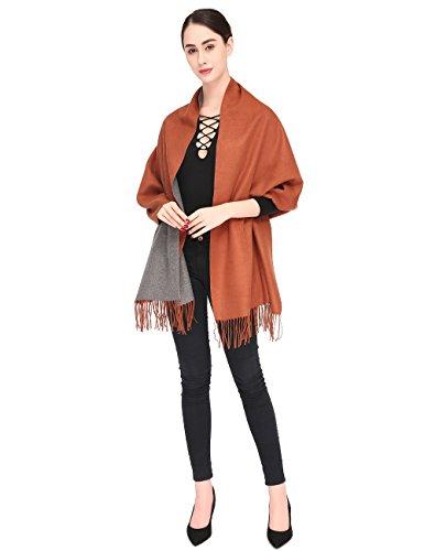 Women Soft Pashmina Scarf Stylish Warm Blanket Scarves Solid Winter Shawl by Arctic Penguin (Image #5)