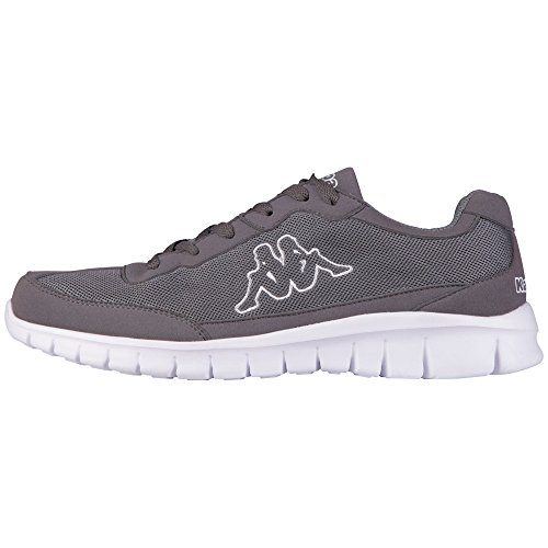 KappaROCKET Footwear unisex, Mesh/Synthetic - Zapatillas Unisex adulto Gris - Grau (1310 anthra/white)