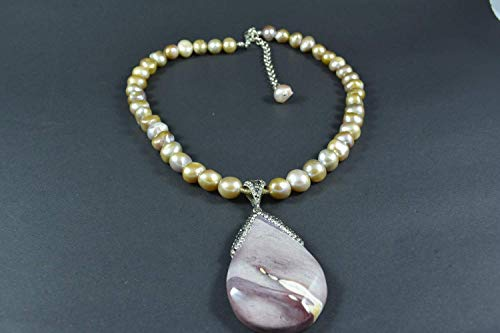 Handmade Cultured Pearl and Amethyst Necklace