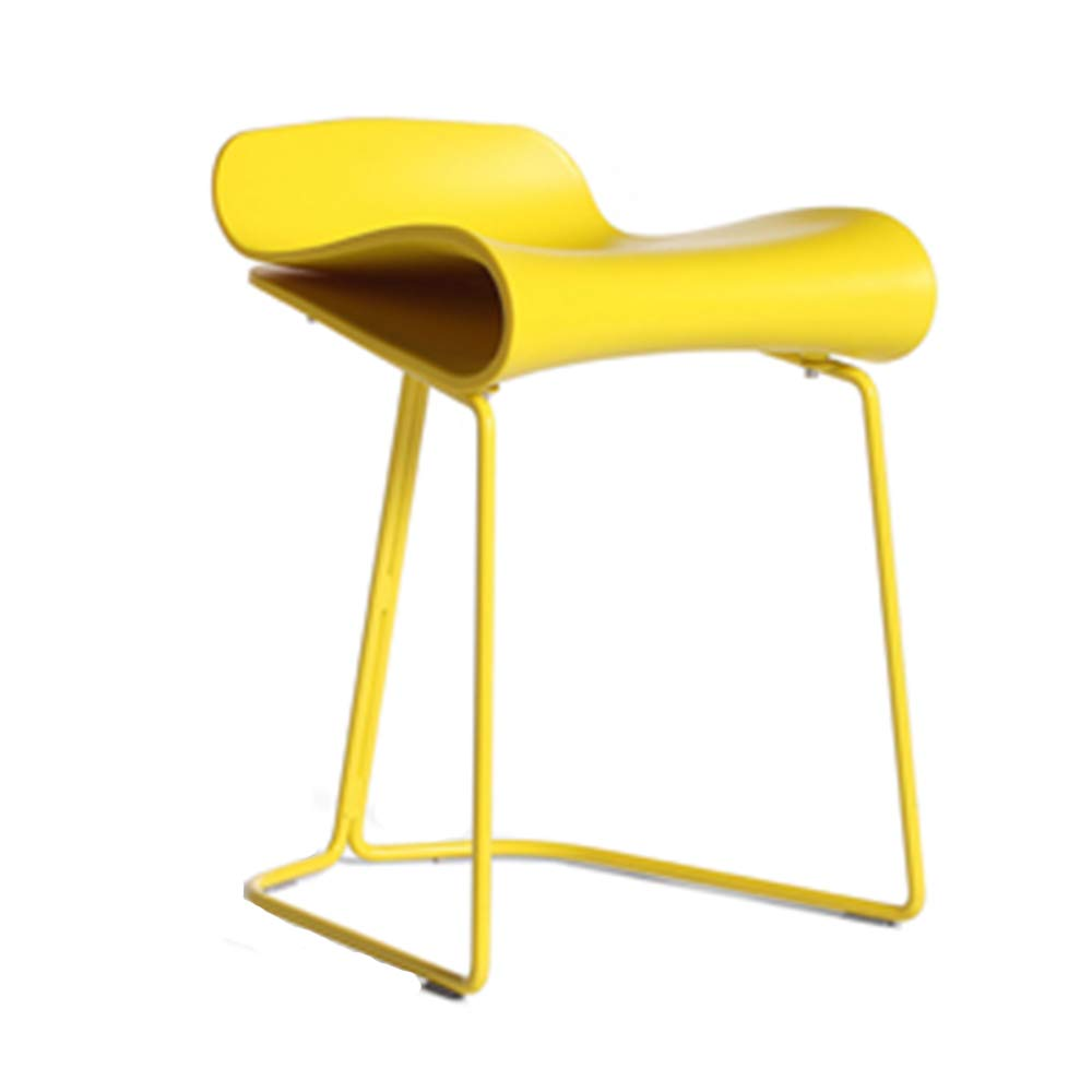 Yellow 50cm LJFYXZ Bar Stool Modern Simplicity Metal Frame Bearing Strong Suitable for All Occasions 3 colors (color   Black, Size   50cm)