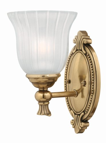 Hinkley Brass Light Fixture (Hinkley 5580BB Traditional One Light Bath from Francoise collection in Brassfinish,)