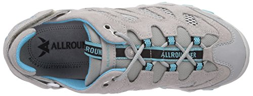 Allrounder by Mephisto NIWA C.SUEDE 80/OPEN MESH 80 ICE - Zapatillas De Deporte Para Exterior de terciopelo mujer Gris - Grau (ICE/ICE)