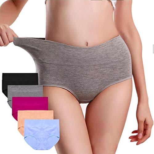 UMMISS Women's Multi Pack Stretchy Soft Breathable Cotton Mid Waist Panties Underwear -Multi -M