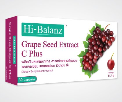 Hi-Balanz Grape Seed Extract C Plus 30 Capsules Dietary Supplement Product