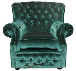 Designer Sofas4u Chesterfield Monks High Back Wing Chair Uk