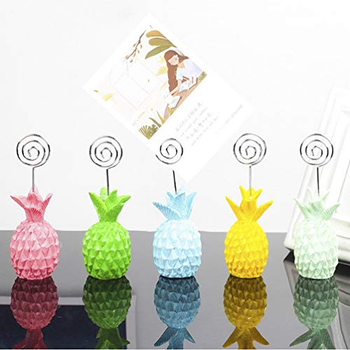 (SMANTA Creative Desktop Resin Pineapple Decoration Photo Holder Desktop Ornament Message Postcard Note Table Number Business Card Clip, Organize and Access Bills, Letters, Reminders and Notes)