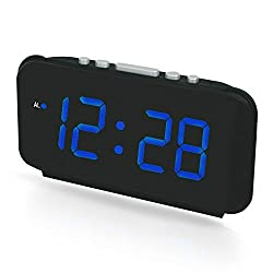 "Dual alarm clock,LED Digital Alarm Clock with 1.8"" large display, Frills Simple Operation, Large Night Light, Loud Alarm,Easy Snooze Function"
