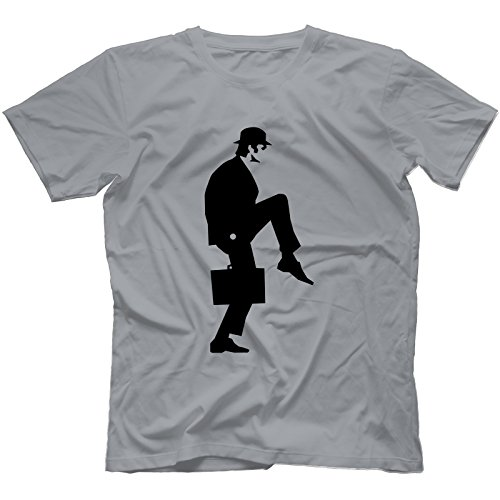 Bees Knees Tees Ministry of Silly Walks T-Shirt in 13 Colours, Grey, Small