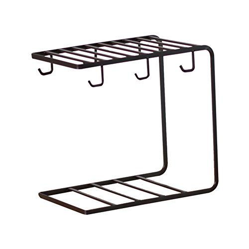 Metal cups metal drying rack stand,Simple cup drain mug coff