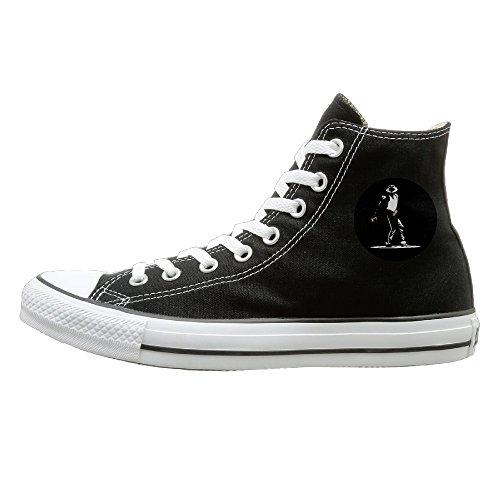 NFCGH Michael Dangerous Canvas Shoes Sneakers Slip On Shoes 40 Black (Michael Jackson Billie Jean Outfit)