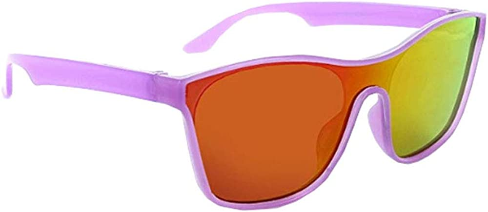 Optic Nerve Polarized Smoke with Red Mirror Lens Tude Sunglasses for Kids Crystal Purple Frame
