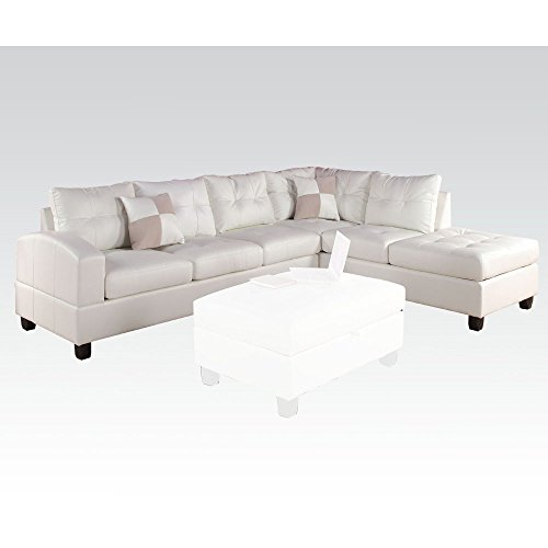 Reversible Sectional Sofa White Bonded Leather Match Sofas: Top Recommendation For Sectional White