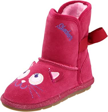 Skechers Cuddlicious Winter Boot (Toddler/Little Kid/Big Kid),Raspberry,5 M US Toddler