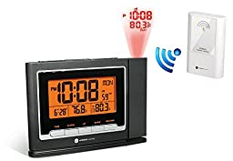 Ambient Weather WS-8365 ClearView Projection Clock with Indoor and Outdoor Temperature